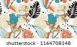 original trendy seamless... | Shutterstock . vector #1164708148