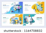 set of templates web page... | Shutterstock .eps vector #1164708832