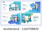 landing pages template set of... | Shutterstock .eps vector #1164708835