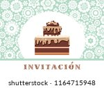 color card. invitation to a... | Shutterstock .eps vector #1164715948