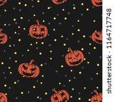 seamless pattern set of happy... | Shutterstock .eps vector #1164717748