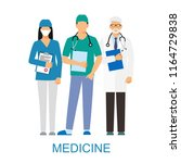 doctors and assistant in a... | Shutterstock . vector #1164729838