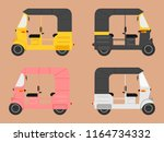indian auto rickshaw ... | Shutterstock .eps vector #1164734332