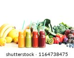 composition of healthy colorful ... | Shutterstock . vector #1164738475