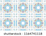 colorful mosaic seamless... | Shutterstock . vector #1164741118