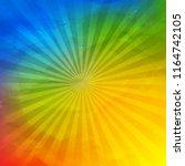 colorful wrinkled wallpaper...   Shutterstock . vector #1164742105