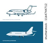 airplane. airplanes vector... | Shutterstock .eps vector #1164744712
