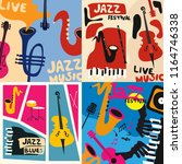 set of music cards and banners. ... | Shutterstock .eps vector #1164746338
