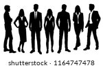 vector silhouettes men and... | Shutterstock .eps vector #1164747478