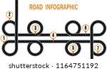 infographics. a winding road... | Shutterstock . vector #1164751192