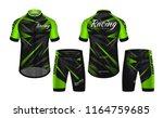 cycling jerseys mockup t shirt... | Shutterstock .eps vector #1164759685