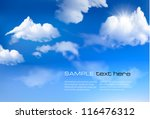 blue sky with clouds. vector... | Shutterstock .eps vector #116476312