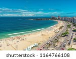 aerial view of copacabana beach ... | Shutterstock . vector #1164766108
