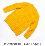 Female Orange Knitted Sweater...
