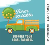 farmers market concept. retro... | Shutterstock .eps vector #1164773515