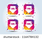 sale arrow tag icons. discount... | Shutterstock .eps vector #1164784132