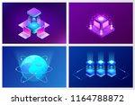 isometric quantum computing or... | Shutterstock .eps vector #1164788872