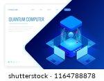 isometric quantum computing or... | Shutterstock .eps vector #1164788878