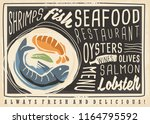 seafood restaurant creative...   Shutterstock .eps vector #1164795592