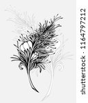 decorative  feather in zen... | Shutterstock .eps vector #1164797212