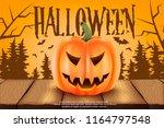 scary poster for halloween...   Shutterstock .eps vector #1164797548