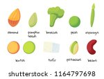 set of foods high in protein.... | Shutterstock .eps vector #1164797698