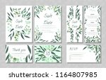 eucalyptus design. wedding... | Shutterstock .eps vector #1164807985