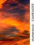 vivid colored mystic sky  dark... | Shutterstock . vector #1164816355