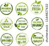 organic food  farm fresh and... | Shutterstock .eps vector #1164827632