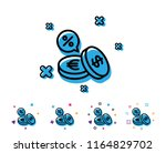 coins money line icon. banking... | Shutterstock .eps vector #1164829702