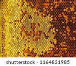 bee honeycombs.the structure of ... | Shutterstock . vector #1164831985