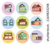 house icons set  different type ... | Shutterstock .eps vector #1164833248