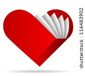 book shape heart | Shutterstock .eps vector #116483902
