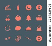 organic vector icons set. with... | Shutterstock .eps vector #1164839608