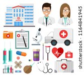 healthcare and medicine set of... | Shutterstock .eps vector #1164841945