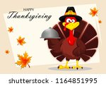 happy thanksgiving  greeting... | Shutterstock .eps vector #1164851995