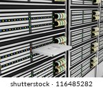 Modern Computer Servers abstract background - stock photo