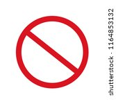 prohibition sign. no sign. stop ...   Shutterstock .eps vector #1164853132