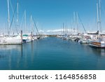 sailing boats on the water ... | Shutterstock . vector #1164856858