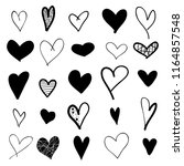 heart hand drawn icons set... | Shutterstock .eps vector #1164857548