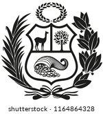escudo del per   con sus tres... | Shutterstock .eps vector #1164864328