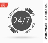 delivery service icon.... | Shutterstock .eps vector #1164866428