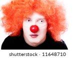 Portrait Of Redhead Clown...