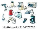 power tools for kitchen and... | Shutterstock .eps vector #1164871702