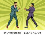 two men businessman fighting.... | Shutterstock .eps vector #1164871705