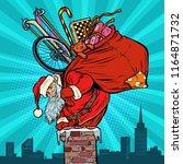 activities and games. santa... | Shutterstock .eps vector #1164871732