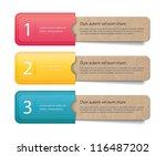 three vector old vintage paper... | Shutterstock .eps vector #116487202