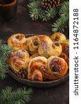 traditional swedish christmas... | Shutterstock . vector #1164872188