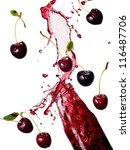 cherry juice splash | Shutterstock . vector #116487706