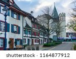 a view of a street in basel... | Shutterstock . vector #1164877912